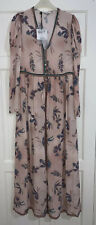 ZARA SS20 PALE PINK CAMPAIGN LIMITED EDITION PLEATED LONG MAXI DRESS SIZE S BNWT