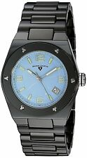 Swiss Legend Black Ceramic Case Blue Dial Women's Quartz Watch 10054-BKBLTSA