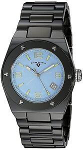 Swiss Legend Black Ceramic Case Blue Dial Women's Quartz Watch 10054-BKBLTSA