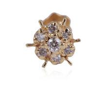 Nose Stud In Fine 18K Yellow Gold Stunning 0.06 Cts Round Brilliant Cut Diamonds