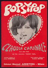 CLAUDIA CARDINALE SPARTITO MUSICALE OST DAL FILM OMONIMO POPSY POP