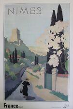 """""""NIMES 1934"""" Affiche originale entoilée A. PETIT 63x93cm"""