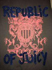 NEW Juicy Couture Original BLING JUICY Jacket Hoodie & Pants L & NWT GREY $238.0