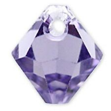 Swarovski Crystal TopDrill Bicone Tanzanite  Color 6mm. Approx 24 PCS. 6328-6301