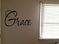 Grace Inspirational Word Fancy Pretty Home Vinyl Wall Decal Quote Sticker