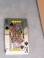 Belt Buckle Silver King of Spades large colorful mirrored finish silver metal