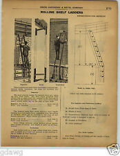 1922 PAPER AD Superior Acme Perfection Brand Rolling Store Library Ladder