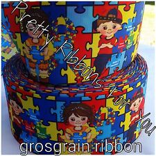 "Autism Awareness  1.5"" wide.. 5 yards listing"