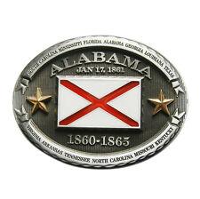 New Vintage Oval Alabama Flag Belt Buckle Gurtelschnalle also Stock in US