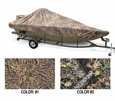 "CAMO COVER MODIFIED V JON BOAT 18'6""-19'6"" 90"" BEAM W/ HIGH CENTER CONSOLE OB"