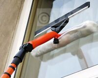 3.5M TELESCOPIC WINDOW CLEANER KIT WINDOW CLEANING EQUIPMENT SQUEEGEE NEW