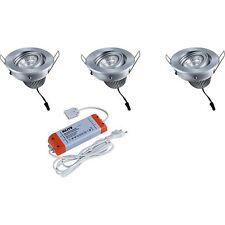 HEITRONIC LED Einbaustrahler 3er Set NEVADA 30728 Einbaulampe 3x8Watt 3x570Lumen
