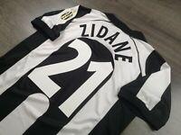 [Retro] - Juventus Home 1997/98 21 ZIDANE with Calcio Patch Size M