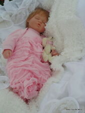 """New ~ Berenguer Sleeping Baby Doll ~ with makeover ~ 18 """" Dressed in Pink"""