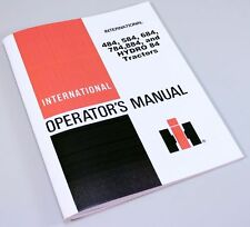 INTERNATIONAL 484 584 684 784 884 HYDRO 84 TRACTORS OPERATORS MANUAL BOOK IH