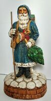 """Early Antique Belsnickle German Christmas Santa St Nickolas 11"""" Candy Container"""