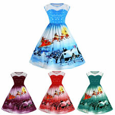 Womens Sleeveless Cocktail Winter Floral Dresses Sexy Evening Party Lace Swing