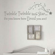 Nursery Rhyme Quote Wall Sticker! Home Transfer Kids Decal Decor Stencil Art Uk