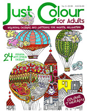Just Colour For Adults issue 3 - Art Therapy - Adult Colouring Book -  NEW