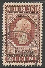 Países Bajos SG219 1913 20c Marrón Fine Used