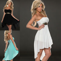 Sexy Women Lady One Off Shoulder Chiffon Maxi Evening Party Cocktail Dress Tide