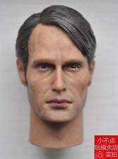 "custom 1/6 scale Hannibal Mads Mikkelsen Galen Erso head sculpt fit 12"" body"