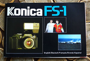 Konica FS-1 Camera Instruction manual booklet - English & 4 more 83 Pages