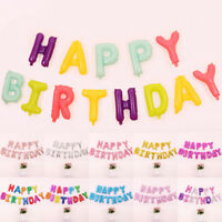 """HAPPY BIRTHDAY 16""""inch SELF-INFLATING BALLOON BANNER BUNTING PARTY LARGE BALOONS"""