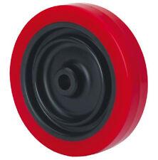 Rad Rolle Ø 50mm Polyurethan Schwarz Rot Achsloch 10mm Tragfähigkeit 40kg Design