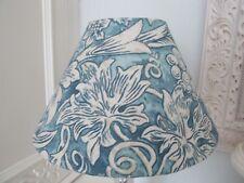 Handmade Coolie Lampshade William Morris Sunflower Etch Slate & Vellum fabric 25