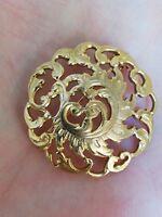 Broche Art Nouveau en plaqué or