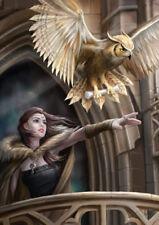 FANTASY Tarjeta Saludo Búho - Búho Mensajero - Anne Stokes Fantasy Postal Carta