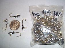 1/32oz #4 MINNOW HEAD LEAD HEAD JIG EAGLE CLAW - GOLD 100ct