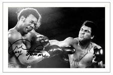 Muhammad Ali & George Foreman Boxeo Firmado Autógrafo Foto impresión