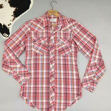 H BAR C Vtg 60's Western Plaid Shirt Pearl Snap Rockabilly California Ranchwear