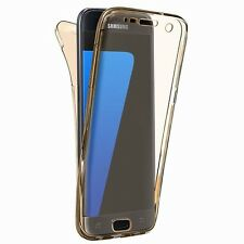 360° Full Protective TPU Soft Clear Front and Back Case Cover for Samsung&iPhone