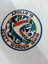 TOPPA BADGE MISSION PATCH VINTAGE PICCOLO APOLLO 15 SCOTT IRWIN WOEDEN N100