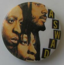 ASWAD VINTAGE METAL BUTTON BADGE FROM THE 1980's POP REGGAE
