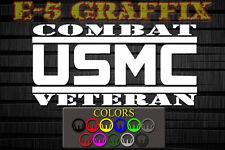A+ USMC Combat Veteran vinyl decal. Marines Grunt Infantry CAR DDG