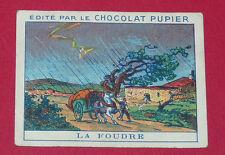 CHROMO PUPIER 1930 ALBUM JOLIES IMAGES SERIE 8 PHENOMENE NATURE FOUDRE