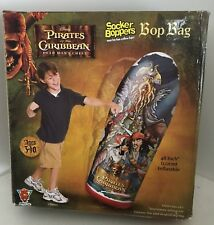 "Pirates of the Caribbean Socker Boppers 48"" Inflatable Bop Bag Nib"