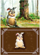 New Limited Disney Pin+Card Bambi Thumper If You Can't Say Something Nice Acme