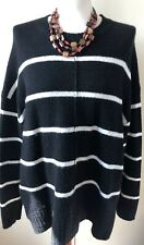 Jumper By  Marks & Spencer Collection Size Large Black & White Long Sleeved