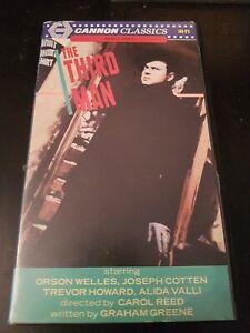 THE THIRD MAN - CANNON CLASSICS - ORSON WELLES EX RENTAL SMALL BOX VHS PRE CERT