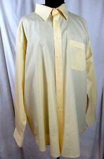 Beverly Hills Polo Club Dress Shirt 18 1/2 - 34 35 Light Yellow XXL #K054