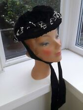 Ladies Black Victorian Hat