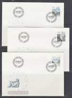 Switzerland Mi 1242/1259, 1983 issues, 5 complete sets in singles on 14 FDCs