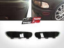 Smoke Front Bumper Reflector Fits 00-03 BMW E46 2D Coupe & Cabrio 01-06 E46 M3