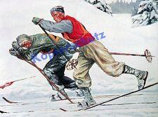 Elk Eber Skilanglauf Wettkampf nordisch Garmisch Kurhaus Fresko Wintersport 1933