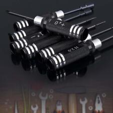 7pcs Hex Screw Driver Tool Kit 1.5MM-5.5MM for RC Helicopter Plane Car Black UP